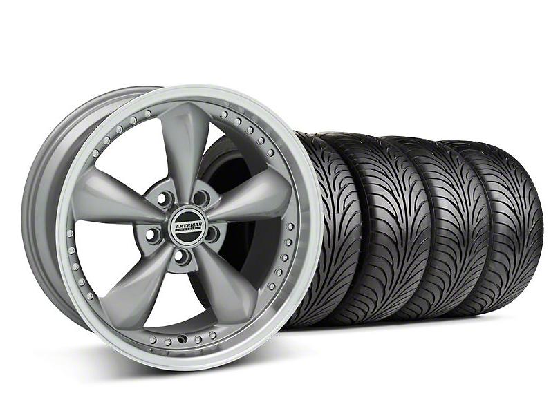Staggered Bullitt Motorsport Anthracite Wheel & Sumitomo Tire Kit - 18x9/10 (05-14 GT, V6)