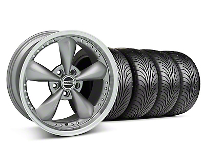 Staggered Anthracite Bullitt Motorsport Wheel & Sumitomo Tire Kit - 18x9/10 (05-14 GT, V6)