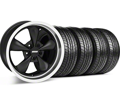 Bullitt Matte Black Wheel & Sumitomo Tire Kit - 17x8 (05-14 V6; 05-10 GT)