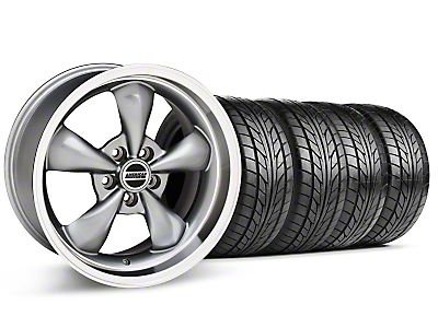 Staggered Anthracite Bullitt Wheel & NITTO Tire Kit - 18x9/10 (99-04)