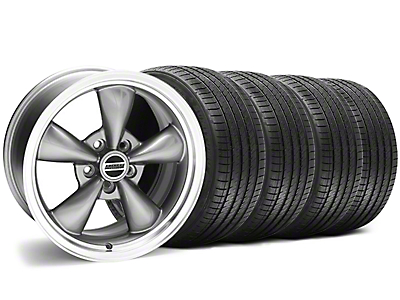 Staggered Anthracite Bullitt Wheel & Sumitomo Tire Kit - 18x9/10 (94-98 All)