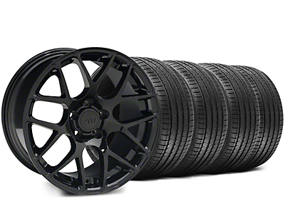 Staggered Black AMR Wheel & Sumitomo Tire Kit - 18x9/10 (05-14 All)