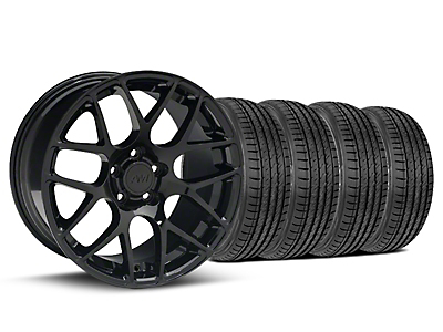 Black AMR Wheel & Sumitomo Tire Kit - 19x8.5 (05-14 All)