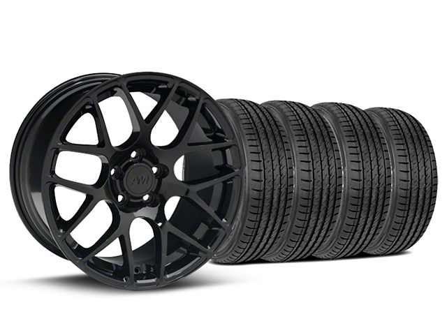 Staggered AMR Black Wheel & Sumitomo Tire Kit - 19x8.5/10 (05-14 All)