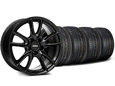 Track Pack Style Gloss Black Wheel & NITTO INVO Tire Kit - 18x9 (05-14 GT, V6)