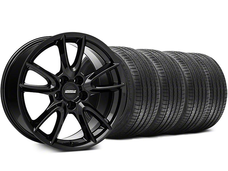 Track Pack Style Gloss Black Wheel & Sumitomo Tire Kit - 18x9 (05-14 GT, V6)