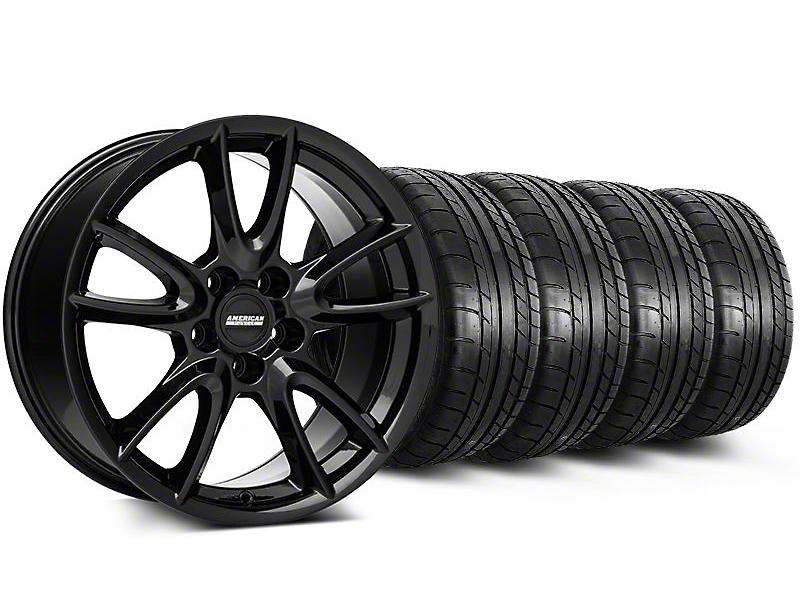 Track Pack Style Gloss Black Wheel & Mickey Thompson Tire Kit - 18x9 (05-14 GT, V6)