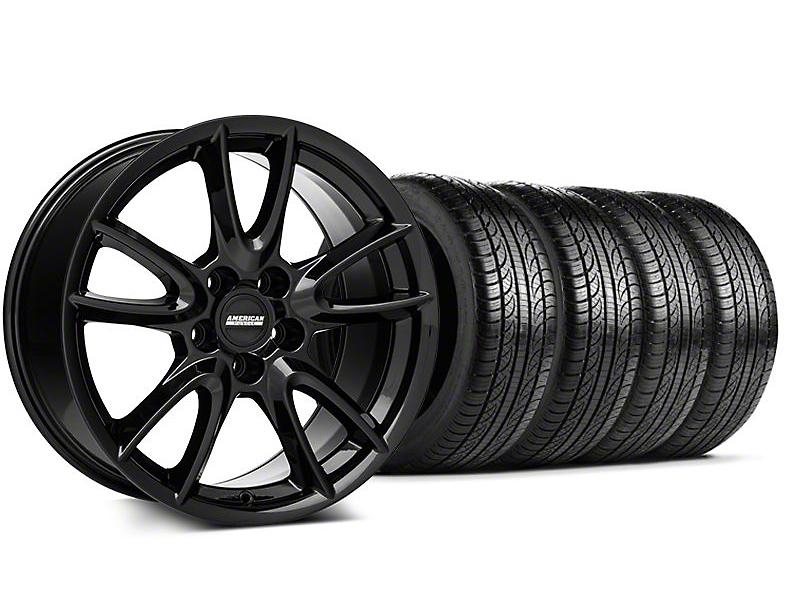 Track Pack Style Gloss Black Wheel & Pirelli Tire Kit - 19x8.5 (05-14 All)