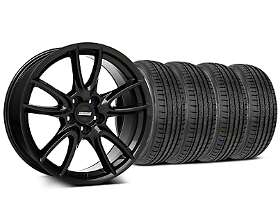 Track Pack Style Gloss Black Wheel & Sumitomo Tire Kit - 19x8.5 (05-14 All)