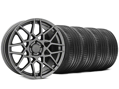 2013 GT500 Style Charcoal Wheel & Sumitomo Tire Kit - 20x8.5 (05-14 GT, V6)