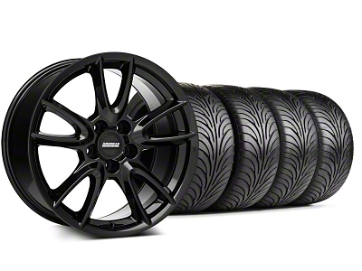 Track Pack Style Staggered Gloss Black Wheel & Sumitomo Tire Kit - 18x9/10 (05-14 GT, V6)