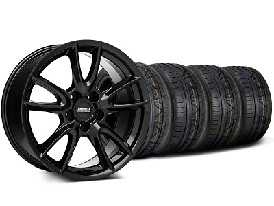 Track Pack Style Staggered Gloss Black Wheel & NITTO INVO Tire Kit - 18x9/10 (05-14 GT, V6)