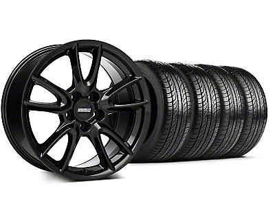 Track Pack Style Staggered Gloss Black Wheel & Pirelli Tire Kit - 19x8.5/10 (05-14 All)