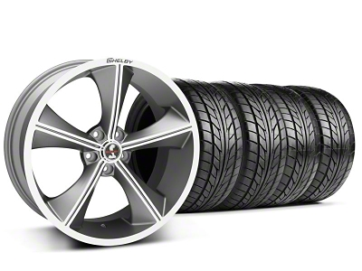 Shelby Staggered CS70 Gunmetal Wheel & NITTO Tire Kit - 20x9/10 (05-14 All)