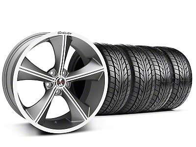 Staggered Gunmetal Shelby CS70 Wheel & NITTO Tire Kit - 20x9/10 (05-14 All)