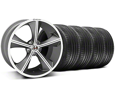 Shelby Staggered CS70 Gunmetal Wheel & Sumitomo Tire Kit - 20x9/10 (05-14 All)