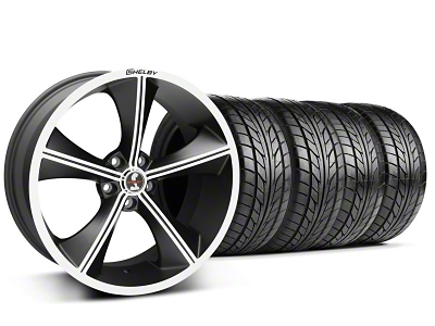 Shelby Staggered CS70 Matte Black Wheel & NITTO Tire Kit - 20x9/10 (05-14 All)