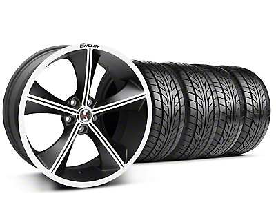 Staggered Matte Black Shelby CS70 Wheel & NITTO Tire Kit - 20x9/10 (05-14 All)