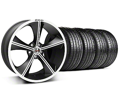 Staggered Matte Black Shelby CS70 Wheel & Sumitomo Tire Kit - 20x9/10 (05-14 All)
