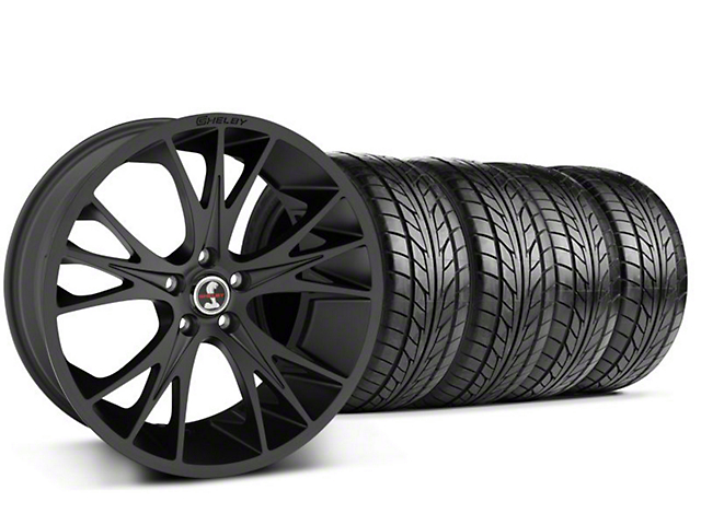 Shelby CS1 Matte Black Wheel & NITTO Tire Kit - 20x9 (05-14 All)