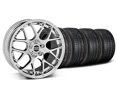 Staggered Chrome AMR Wheel & NITTO Invo Tire Kit - 19x8.5/9.5 (05-13 All)