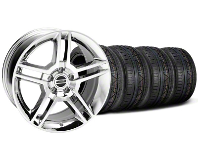 2010 GT500 Style Chrome Wheel & NITTO INVO Tire Kit - 19x8.5 (05-14 All)