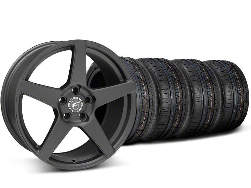 Forgestar CF5 Monoblock Matte Black Wheel & NITTO INVO Tire Kit - 19x9 (05-14 All)