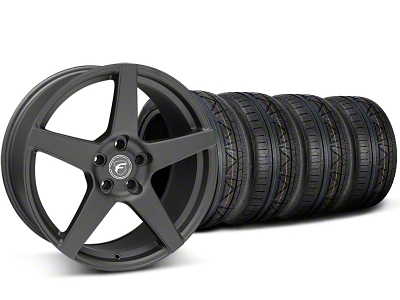 Forgestar Staggered CF5 Matte Black Wheel & NITTO INVO Tire Kit - 19x9/10 (05-14 All)