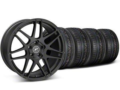 Forgestar F14 Monoblock Matte Black Wheel & NITTO INVO Tire Kit - 19x9 (05-14 All)