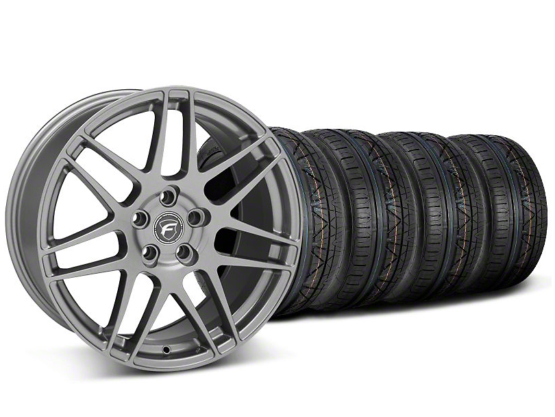 Forgestar F14 Monoblock Gunmetal Wheel & NITTO INVO Tire Kit - 19x9 (05-14 All)