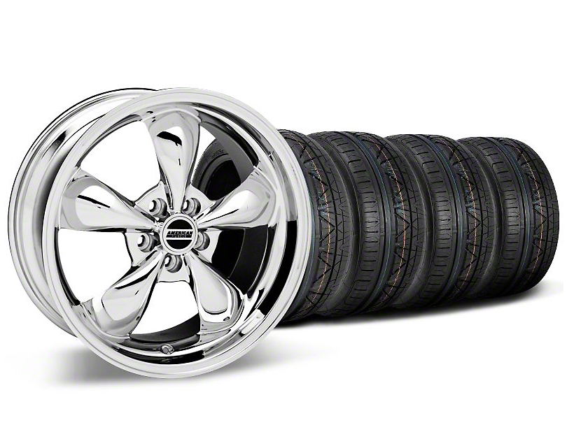 Bullitt Chrome Wheel & NITTO INVO Tire Kit - 19x8.5 (05-14 GT, V6)