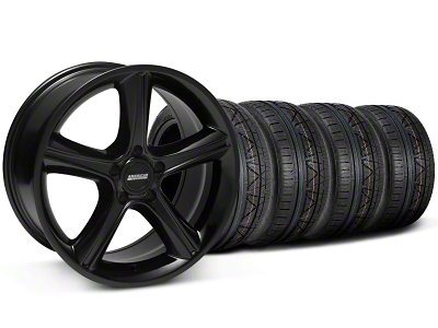 2010 Staggered GT Premium Style Black Wheel & NITTO INVO Tire Kit - 19x8.5/10 (05-14 All)