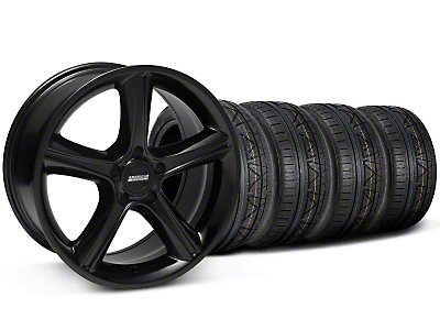 Staggered Black GT Premium Wheel & NITTO Invo Tire Kit - 19x8.5/10 (05-14 All)