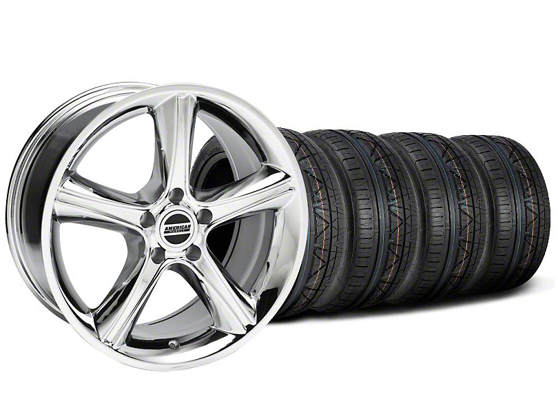 2010 GT Premium Style Chrome Wheel & NITTO INVO Tire Kit - 19x8.5 (05-14 All)
