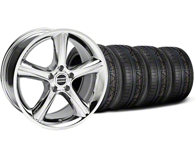 2010 Staggered GT Premium Style Chrome Wheel & NITTO INVO Tire Kit - 19x8.5/10 (05-14 GT, V6)