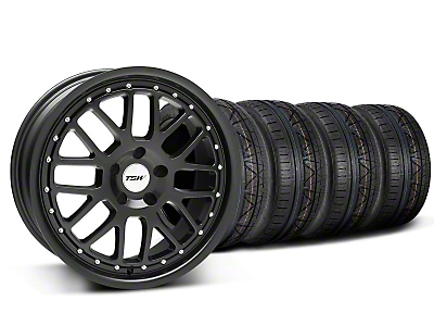 Staggered Matte Black TSW Valencia Wheel & Nitto Invo Tire Kit - 19x8/9.5 (05-14 All)