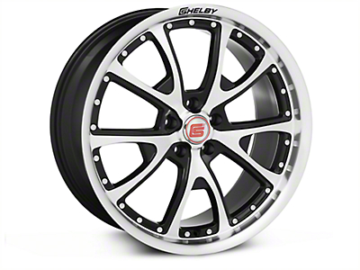 Shelby CS40 Black Machined Wheel - 20x9 (05-14 All)
