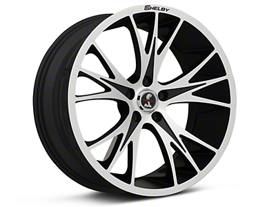 Shelby CS1 Black Machined Wheel - 20x9 (05-14 All)