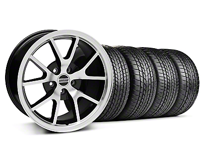 FR500 Black Machined Wheel & Sumitomo Tire Kit - 17x9 (99-04 All)