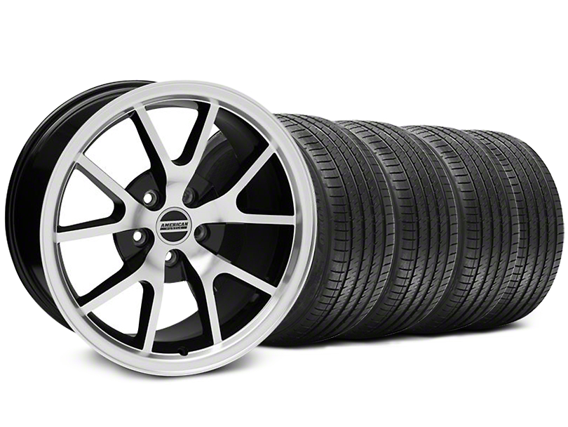 FR500 Style Black Machined Wheel & Sumitomo Tire Kit - 17x9 (94-98 All)