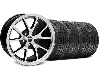 FR500 Style Black Machined Wheel & Sumitomo Tire Kit - 17x9 (94-98 All)