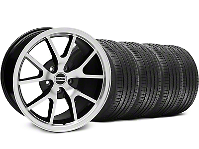 FR500 Black Machined Wheel & Sumitomo Tire Kit - 17x9 (94-98 All)