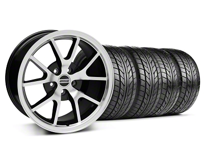 Staggered FR500 Style Black Machined Wheel & NITTO Tire Kit - 17x9/10.5 (94-98 All)