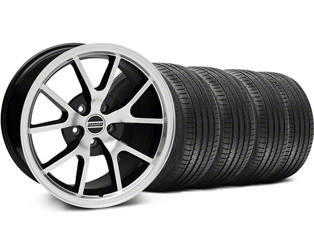 FR500 Style Black Machined Wheel & Sumitomo Tire Kit - 18x9 (05-14 All)