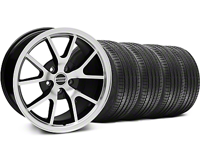 FR500 Black Machined Wheel & Sumitomo Tire Kit - 18x9 (05-14 All)