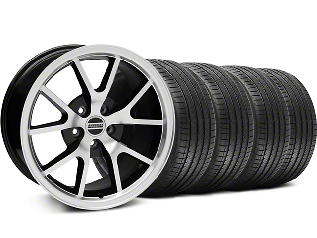 FR500 Style Black Machined Wheel & Sumitomo Tire Kit - 18x9 (99-04 All)