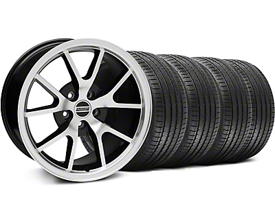 FR500 Black Machined Wheel & Sumitomo Tire Kit - 18x9 (99-04 All)