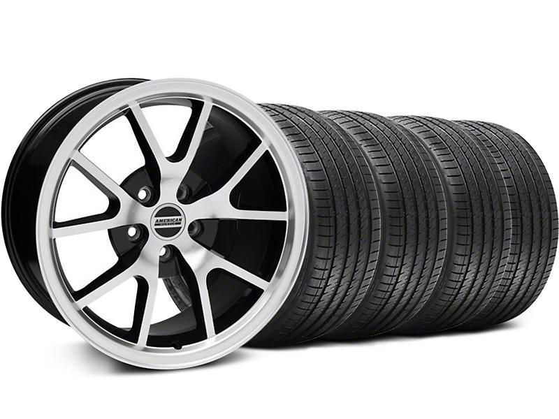FR500 Style Black Machined Wheel & Sumitomo Tire Kit - 18x9 (99-04 All)
