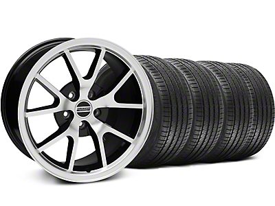 Staggered FR500 Style Black Machined Wheel & Sumitomo Tire Kit - 18x9/10 (99-04 All)