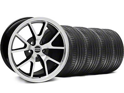 Staggered Black Machined FR500 Wheel & Sumitomo Tire Kit - 18x9/10 (94-98 All)